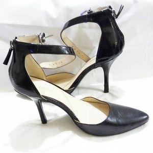 "Nine West Black Leather ""Blugrass"" Shoes Size 7.5"
